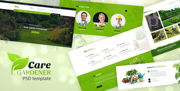 Care Gardner – Gardeneing and Landscaping PSD Template