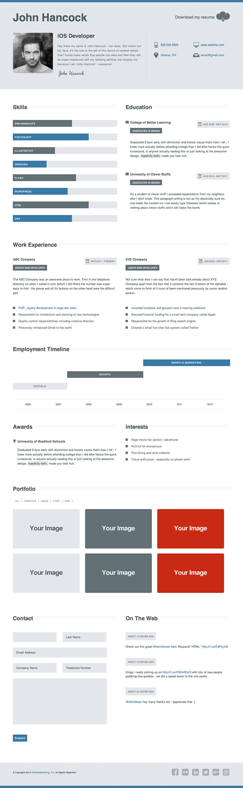 Clean Business Resume