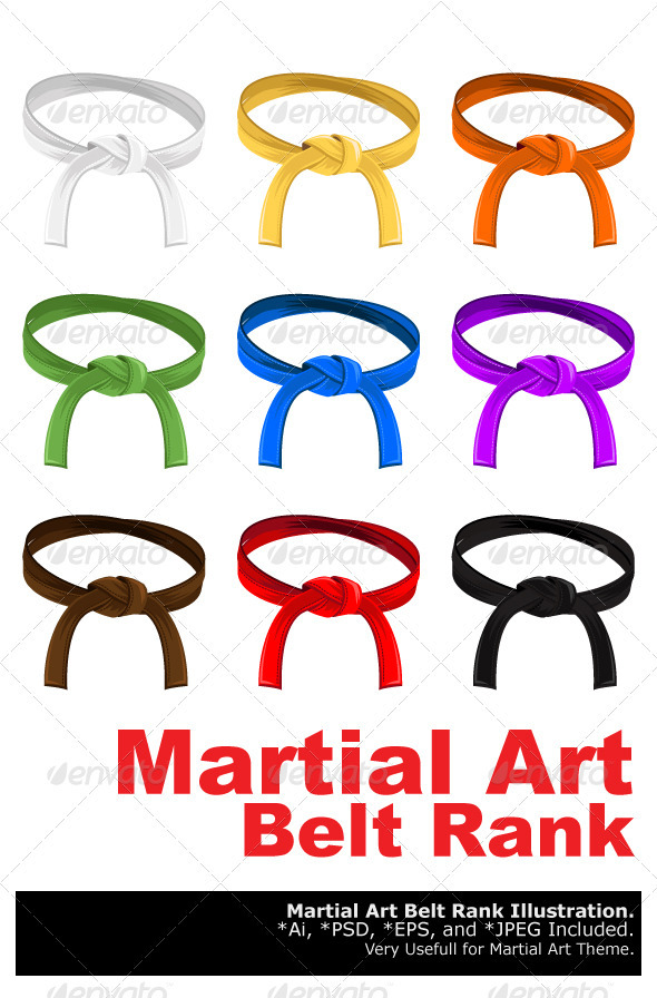 GraphicRiver Martial Art Belt Rank System 1934774