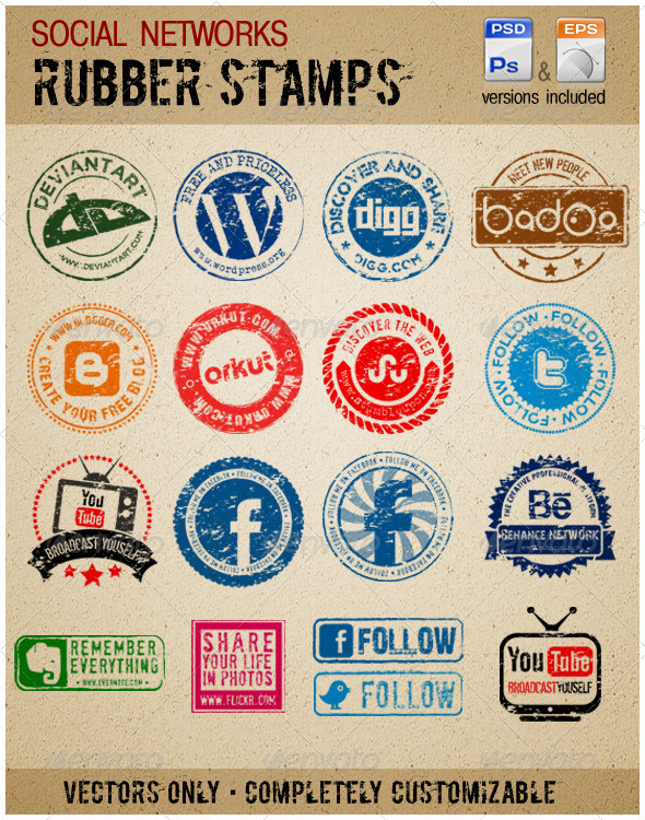GraphicRiver Social Media Rubber stamps 1934794