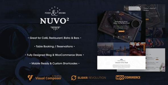NUVO2 – Cafe & Restaurant WordPress Theme