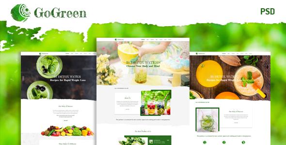 GoGreen | Restaurant ,Cafe HTML Template
