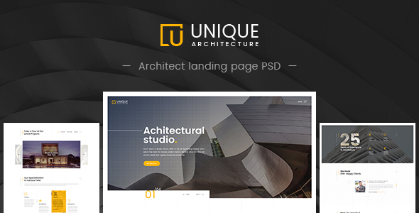 Unique – Architecture & Interior PSD Template