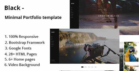 Black – Minimal Portfolio Template