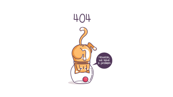 404 Error SVG – Houston, We Have a Problem – Cat in the Jar