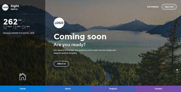 Sight – Beautiful and Creative Website Template for Coming Soon Page