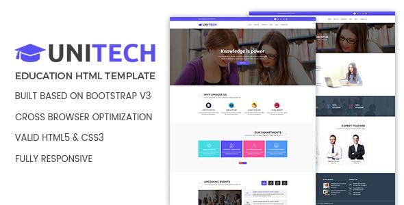 Unitech – Education HTML Template