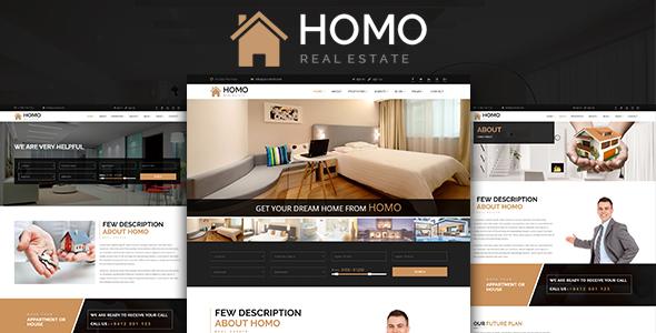 Homo – Real Estate  HTML Template