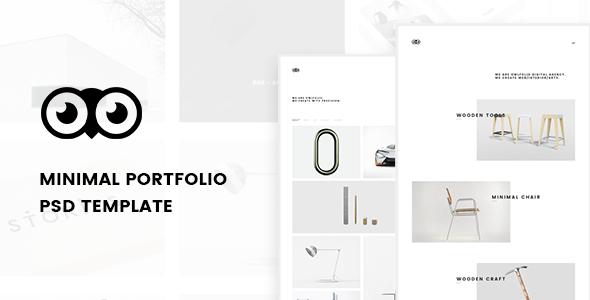 Owlfolio – Creative Portfolio PSD Template with PSD Files