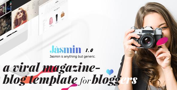 Jasmin – A Viral Magazine & Blog Template