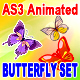 Actionscript animated fluttering butterflies set - ActiveDen Item for Sale
