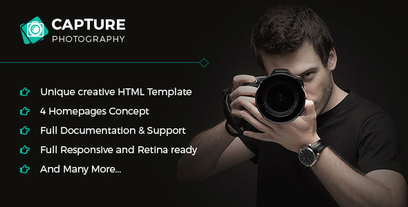 Capture – Photography & Personal Portfolio Template