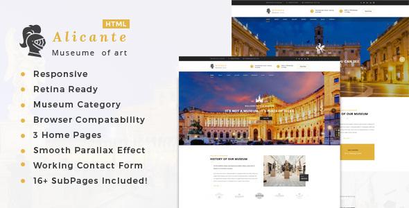 Alicante – Museum & Exhibition HTML Template