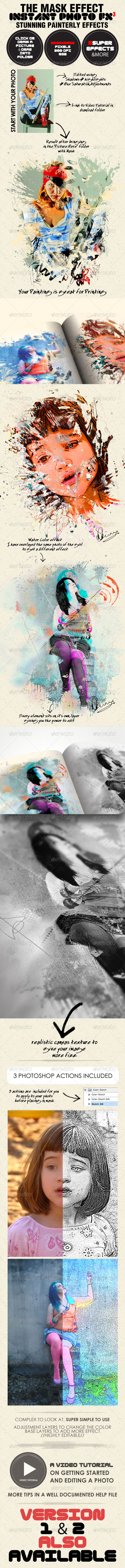 Photo-Fx-Auto Mask#3 - Stunning Photo Effects - Photo Templates Graphics