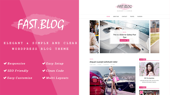 FastBlog – Elegant & Simple WordPress Blog Theme