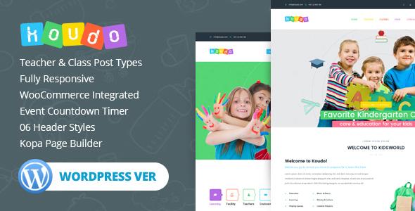 Koudo Education WordPress theme