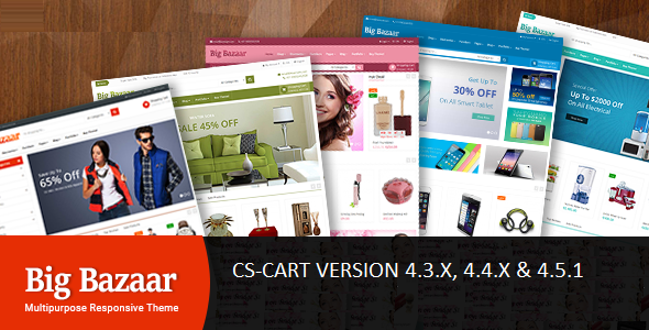 BigBazaar – Multipurpose Responsive CS-Cart Theme