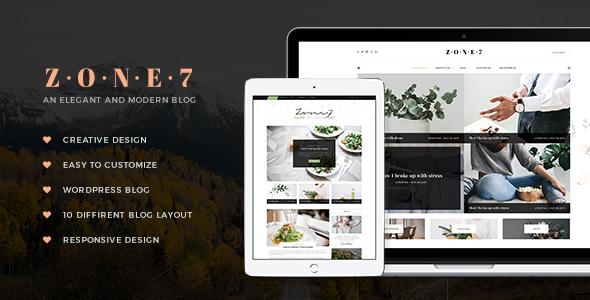 Zone 7 – An Elegant And Modern Blog WordPress Theme