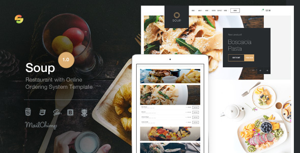 Soup – Restaurant with Online Ordering System Template
