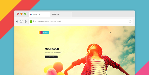 MultiColr – Clean & Minimal One Pae PSD Template For Agency