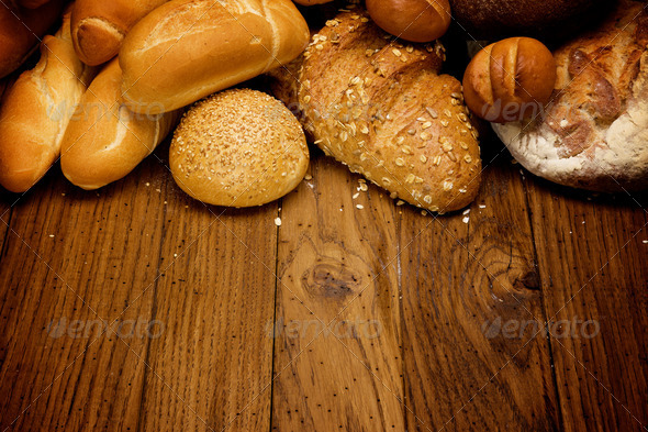 assortment of baked bread - Stock Photo - Images
