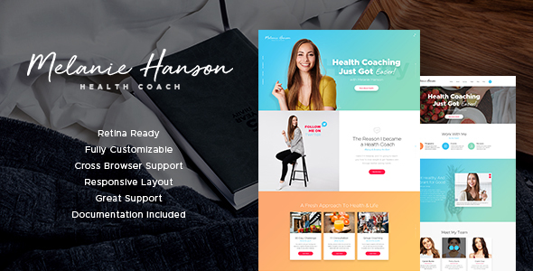 Health Coach Blog & Lifestyle Site Template