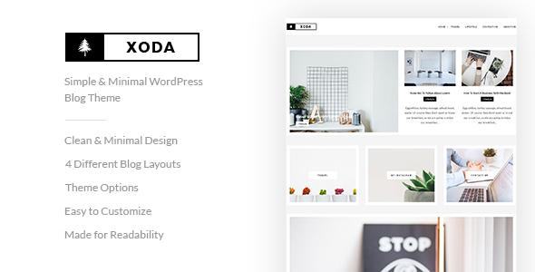 XoDa – Simple & Minimal WordPress Blog Theme