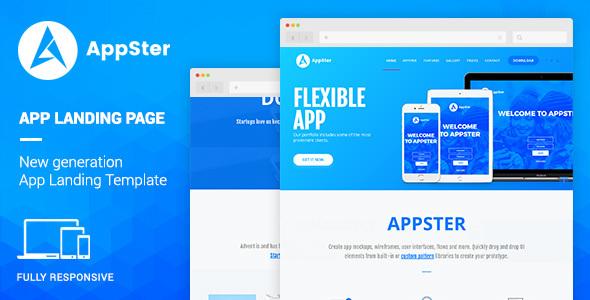 Appster – Mobile App Landing WordPress Theme