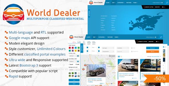 Car Dealer Classified Directory Template