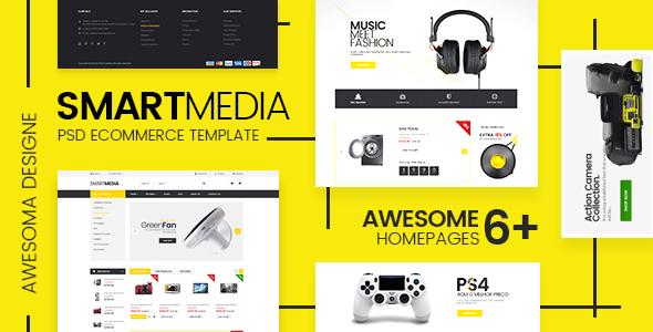 Smart Media – Ecommerce PSD Template