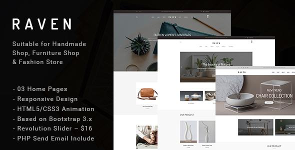 Raven – Responsive Handmade, Furniture Shop and Blog HTML5 Template