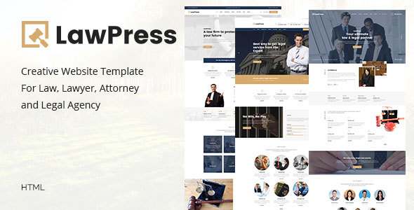 LawPress Html – Creative Website Template For Law, Lawyer, Attorney and Legal Agency