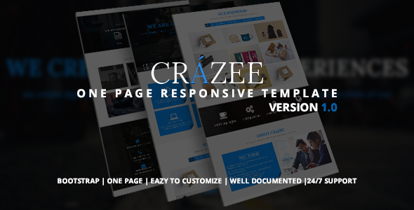 Crazee – Onepage Parallax Business Template
