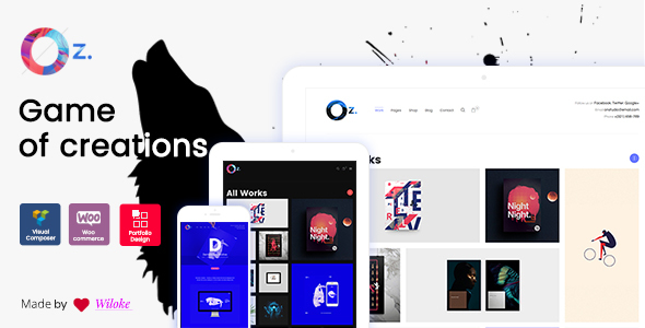OZ – Game of Creations | Creative WordPress Theme
