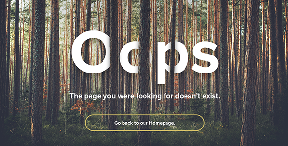 Natural Forest – Responsive 404 Error Template