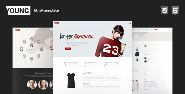 Young HTML – Clean Fashion Portfolio Website Template