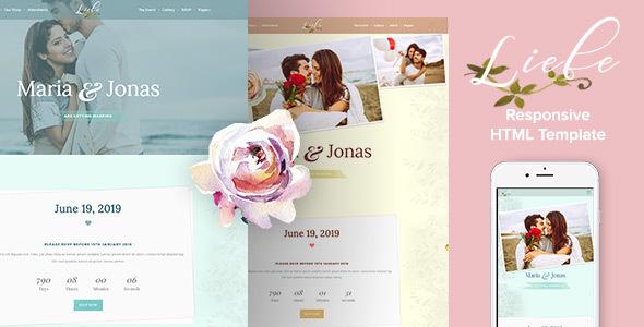 Liebe – Responsive HTML Wedding Template