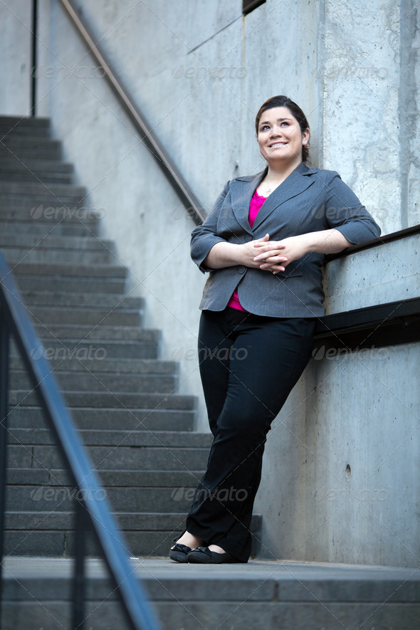 Businesswoman - Taking a break - Stock Photo - Images