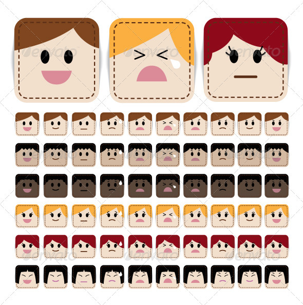 GraphicRiver Stitched Face Expression 1940783