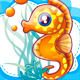 cute seahorses template - GraphicRiver Item for Sale