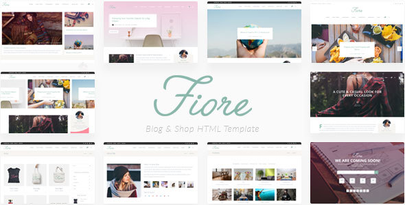 Fiore – Blog & Shop HTML Template