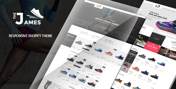 James – Responsive Shopify Drag and Drop Shoes Store Theme