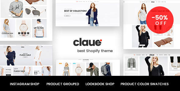 Claue – Clean, Minimal Shopify Theme