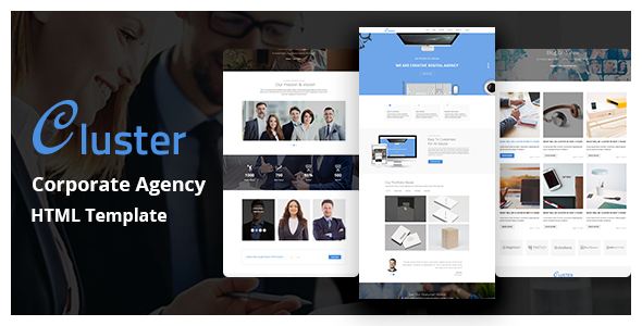 Cluster – Corporate HTML Template