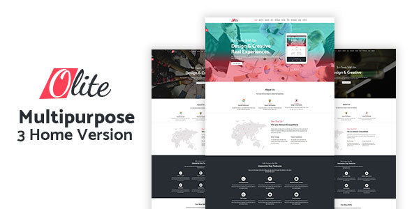 Olite – One Page Multipurpose HTML5 Template