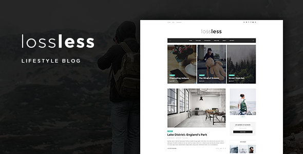 Lossless – Blog PSD Template