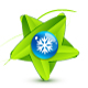 Green leaf symbol with snowflake - GraphicRiver Item for Sale