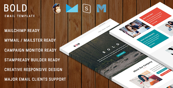 BOLD – Multipurpose Responsive Email Template With Online StampReady Builder Access