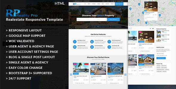 Reality Pro –  Real Estate Responsive Template