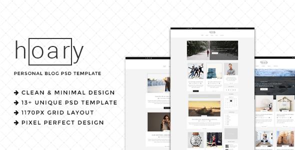 Hoary – Minimal Blog PSD Template